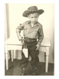 Little Cowboy with Six-Shooter