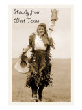 Howdy from West Texas  Rodeo Woman