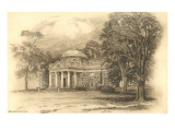 Engraving of Monticello  Charlottesville  Virginia