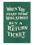 Wall Street  Return Ticket