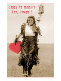 Happy Valentines Day  Cowgirl