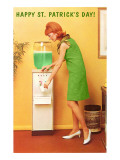Happy St Patricks Day  Green Water Cooler