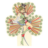 St Patricks Day  Show Girl Illustration