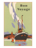 Art Deco Ocean Liner  Bon Voyage