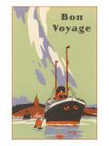 Art Deco Ocean Liner  Bon Voyage