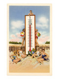 Bathing Beauties with Thermometer