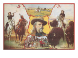 Buffalo Bill with Indians and Bison