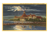 Moon over Hotel del Coronado  San Diego  California