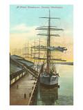 Tall Ships at Wheat Warehouse  Tacoma  Washington