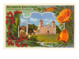 Season's Greetings  Mission  Santa Barbara  California