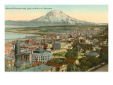 Mt Tacoma and Downtown Tacoma  Washington