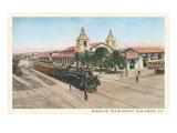 Locomotive at Union Depot  San Diego  California