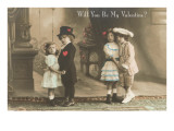 Will You Be My Valentine Two Child Couples