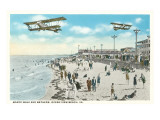 Boardwalk  Biplanes  Ocean View Beach  Virginia