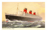 Cunard Queen Mary  Ocean Liner