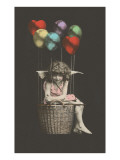 Girl Cupid in Balloon