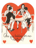 Twenties Bridge Game  Valentine