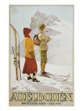 Old Time Skiers  Adelboden  Switzerland