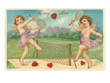 To My Love  Cupids Playing Tennis