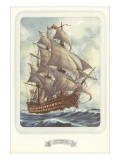 Full-Rigged Clipper Ship