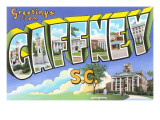 Greetings from Gaffney  South Carolina
