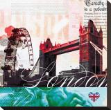 London Stamps Tableau sur toile par Meringue