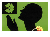 St Patricks Day  Art Deco Silhouette