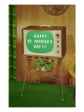 Happy St Patrick's Day  Green Screen TV