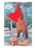 Will You Be My Valentine  Girl and Grizzly Bear