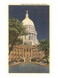 State Capitol at Night  Madison  Wisconsin