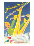 Grindelwald Ski Resort  Graphics
