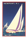 Newport  Rhode Island  Sailboat Graphics