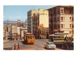Powell Street  Cable Cars  San Francisco  California