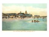 Beach and Pavilion  Narragansett Pier  Rhode Island
