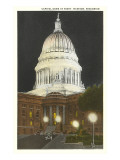 Night  State Capitol  Madison  Wisconsin