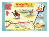 Map of Wyoming  Highway 30