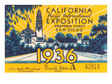 Souvenir Ticket  California Exposition  San Diego