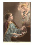 St Cecelia at Piano with Putti