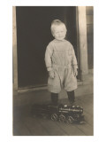 Boy with Toy Locomotive