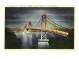 Night  San Francisco-Oakland Bay Bridge  San Francisco  California