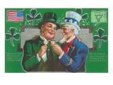 St Patrick&#39;s Day with Uncle Sam
