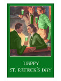 Happy St Patricks Day  Couples Drinking Green Beer