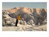 Skier Contemplating Mountain