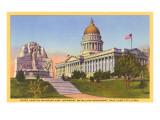 Capitol  Mormon Battalion Monument  Salt Lake City  Utah