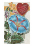 Vintage Morning Glory Valentine