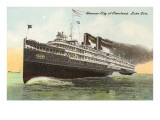 Steamer City of Cleveland  Lake Erie