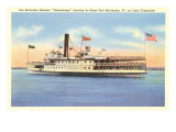 Excursion Steamer on Lake Champlain  Vermont