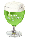 Schooner of Green Beer  St Patrick&#39;s Day