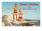 Christmas Surfing  Santa Barbara  California