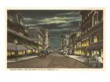 Night  Granby Street  Norfolk  Virginia